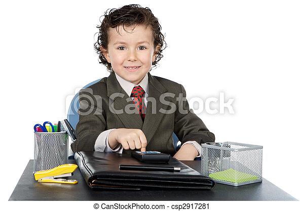 üzletember, jövő, imádnivaló, -e, hivatal - csp2917281