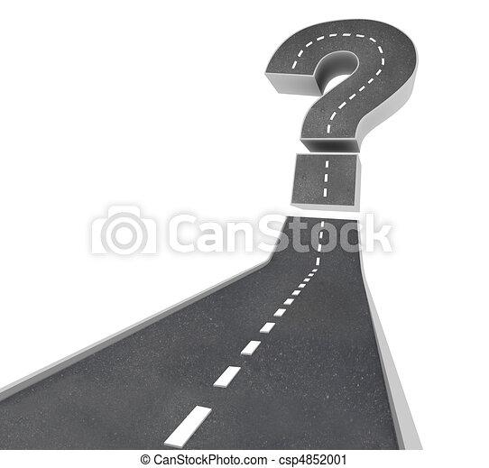 -, bizonytalanság, kérdez, út, megjelöl - csp4852001