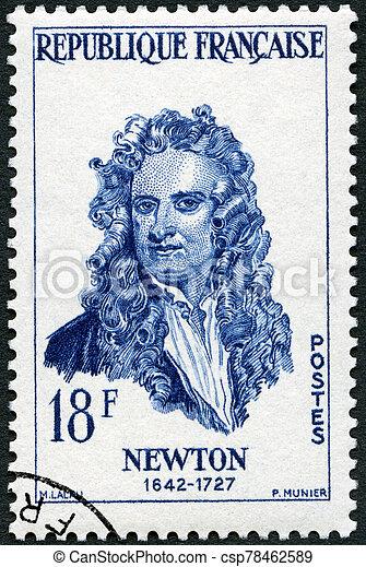 -, franciaország, portré, (1642-1727), látszik, isaac newton, arcképek, 1957: - csp78462589