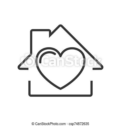 -, ikon, épület, vector. - csp74872635