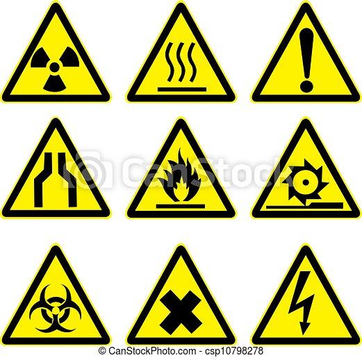 1, figyelmeztetés, állhatatos, cégtábla - csp10798278