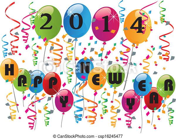 2014, év, boldog, háttér, új - csp16245477