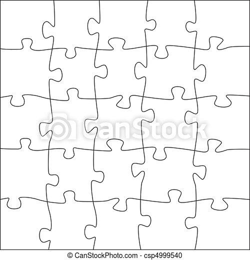 5x5, rendellenes, rejtvény, lombfűrész, -, darabok, sablon - csp4999540