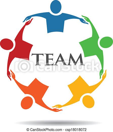 6, befog, csoport, ölelgetés, emberek - csp18018072
