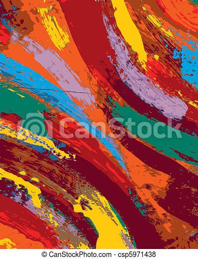 absztrakt festészet, háttér - csp5971438