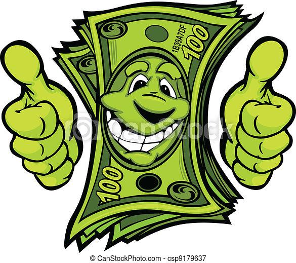 ad pénz, feláll, illustr, vektor, lapozgat, kézbesít, karikatúra, gesztus - csp9179637