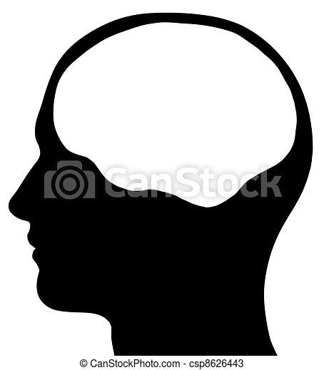 agyonüt, fej, hím, árnykép, terület - csp8626443