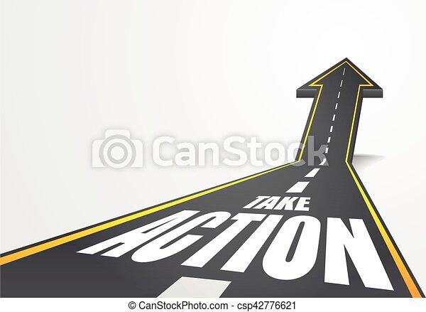 akció, fog, út - csp42776621