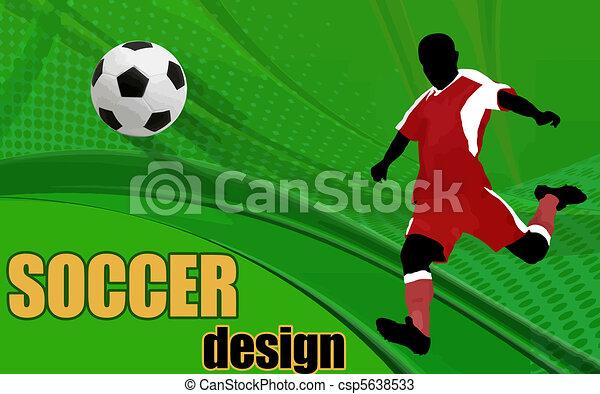 akció, játékos, futball - csp5638533