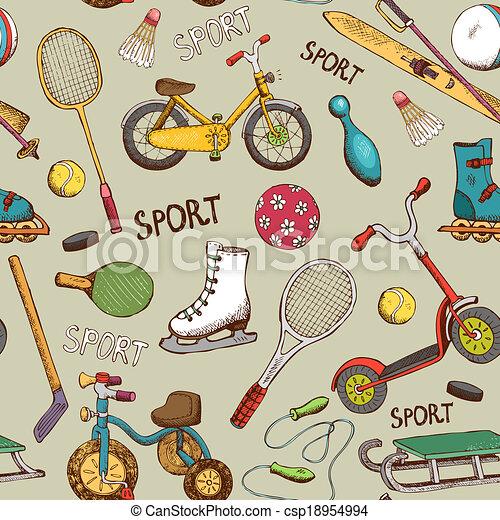 akció, motívum, játékok, sport - csp18954994
