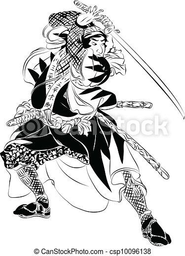 akció, szamuráj, ábra - csp10096138