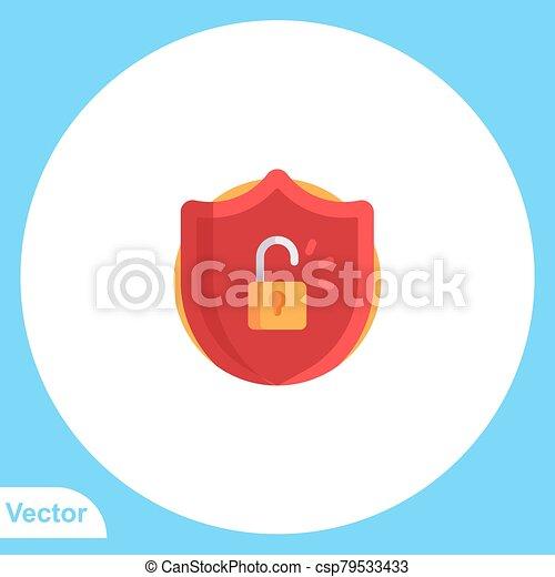 aláír, ikon, lakás, jelkép, vektor, lakat - csp79533433