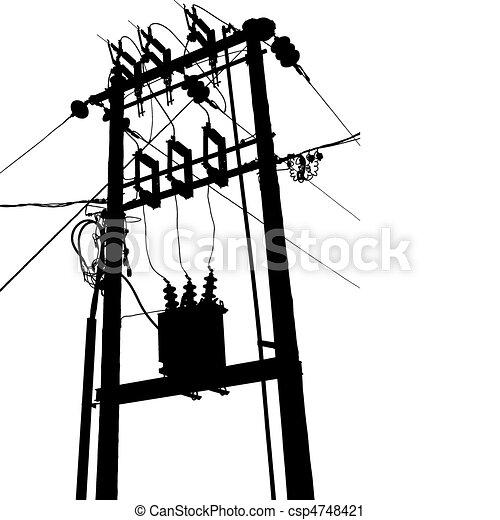 alállomás, transzformátor, elektromos - csp4748421