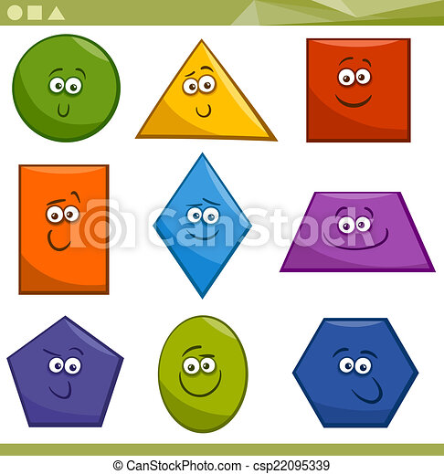 alakzat, geometriai, karikatúra, alapvető - csp22095339