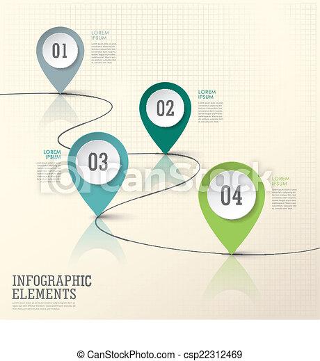 alapismeretek, elvont, dolgozat, modern, megjelöl, elhelyezés, infographic - csp22312469