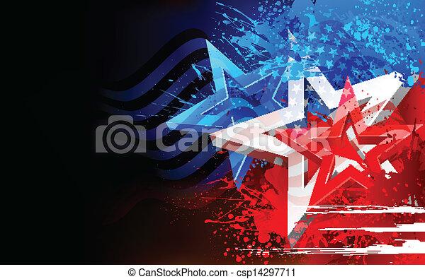 amerikai, elvont, lobogó, háttér - csp14297711