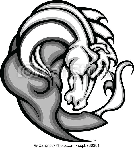 amerikai félvad ló, vec, kabala, grafikus, csődör - csp8780381