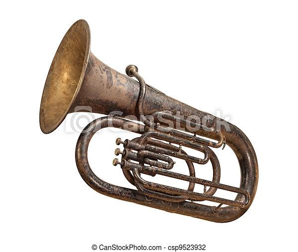 antik, út, darabka, elszigetelt, tuba - csp9523932