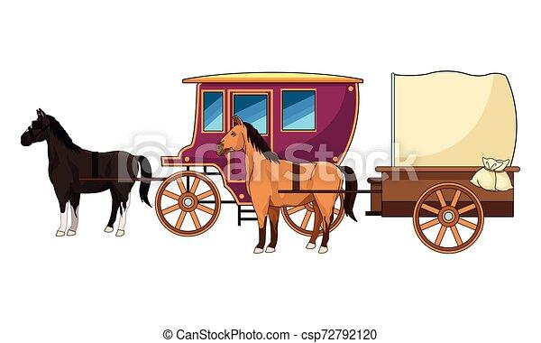 antik, ló, csapágyak, állat, traktor - csp72792120
