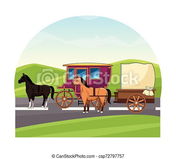 antik, ló, csapágyak, állat, traktor - csp72797757
