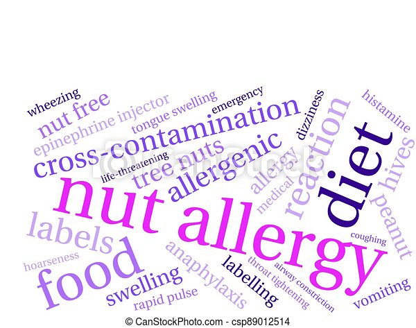 anyacsavar, felhő, allergia, szó - csp89012514