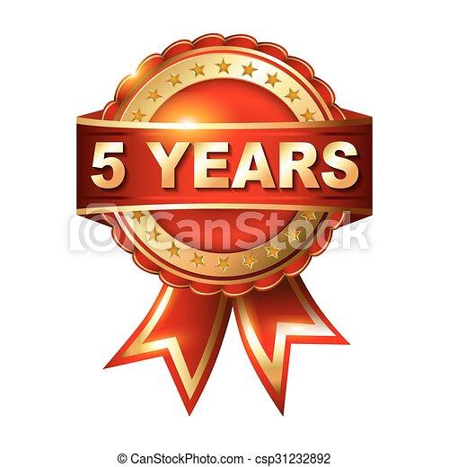 arany- év, 5, évforduló, címke - csp31232892