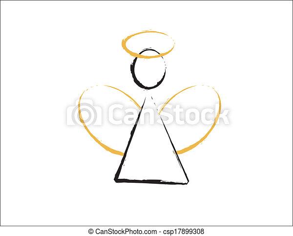 arany-, dicsfénnyel övezni, kasfogó, angyal - csp17899308