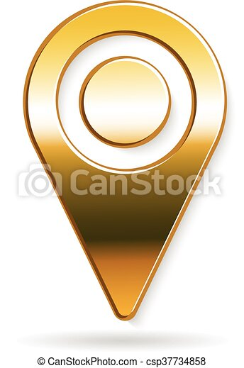 arany-, grafikus, vektor, tervezés, elhelyezés, könyvjelző, logo. - csp37734858