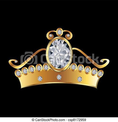 arany, káró, hercegnő, fejtető - csp8172959
