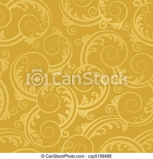 arany-, kavarog, tapéta, seamless - csp5199488