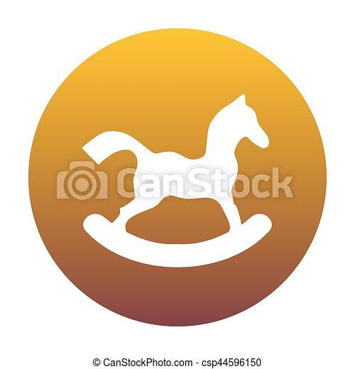 arany-, ló, játékszer, gradiens, cégtábla., bac, white körbejár, ikon - csp44596150