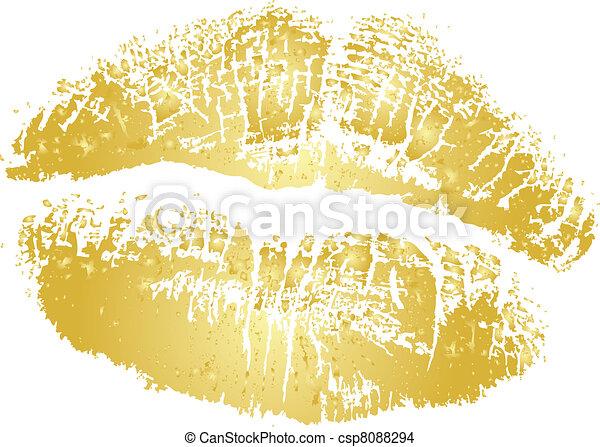 arany, vektor, rúzs megcsókol - csp8088294