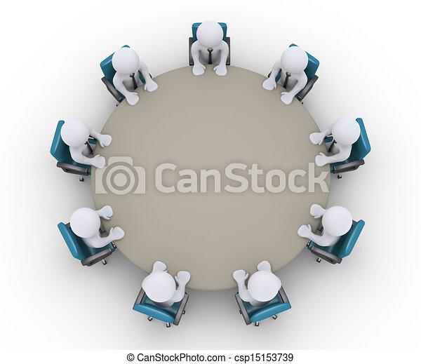 asztal, gyűlés, mindenfelé, businessmen - csp15153739