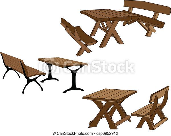 asztal, pad - csp6952912