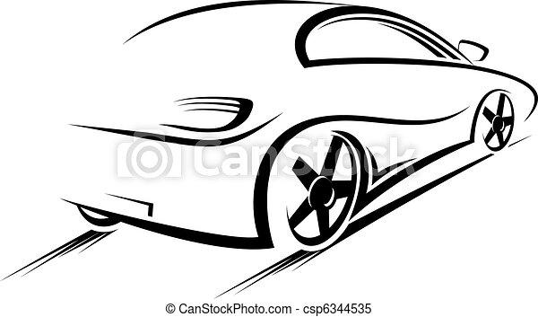 autó, árnykép - csp6344535