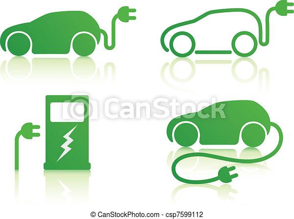 autó, elektromos, gépi erejű - csp7599112