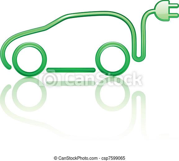 autó, elektromos, gépi erejű - csp7599065