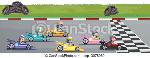 autó fut, verseny - csp13078962