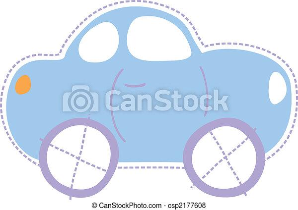 autó, kevés, gyermekkor - csp2177608