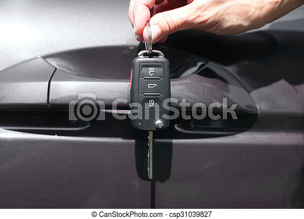 autó, key., kéz - csp31039827