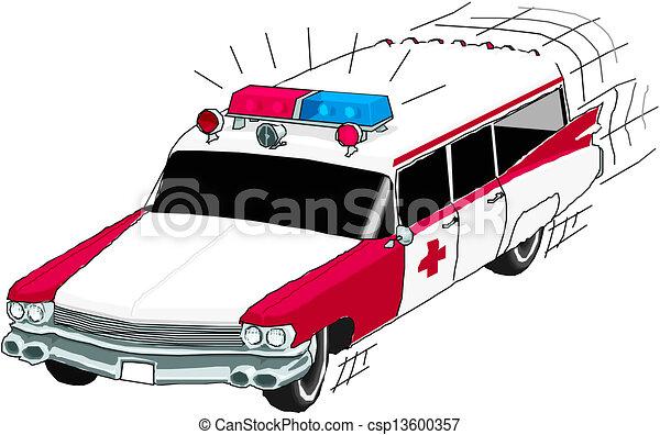 autó, mentőautó - csp13600357