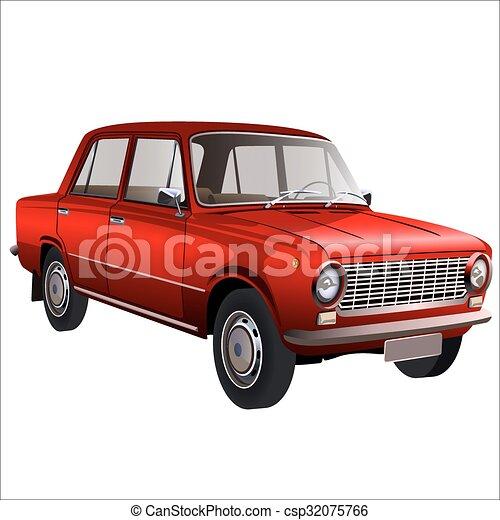 autó, retro - csp32075766