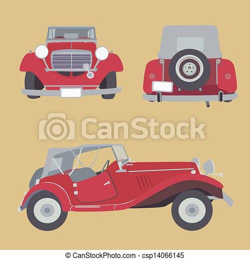 autó, retro - csp14066145