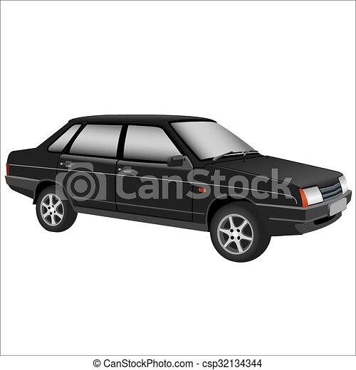 autó, retro - csp32134344