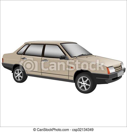 autó, retro - csp32134349