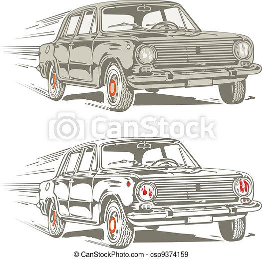 autó, retro - csp9374159