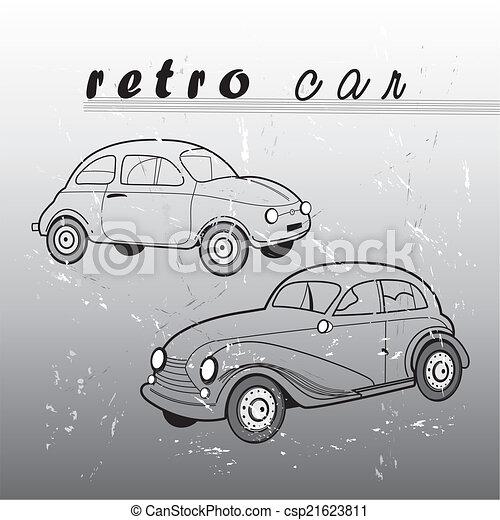 autó, retro - csp21623811