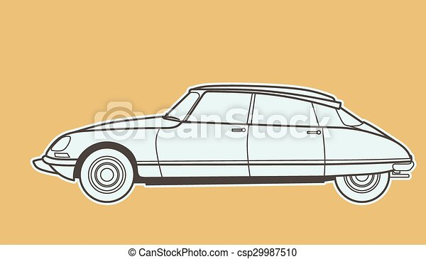 autó, retro - csp29987510