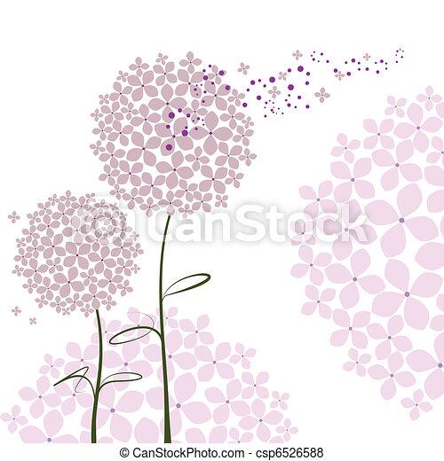 bíbor, elvont, virág, hortenzia, tavasz - csp6526588