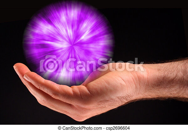 bíbor, fény, labda - csp2696604